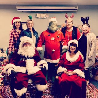 Another photo from today, complete with Santa, Mrs. Claus, and even the Grinch! #GNAA #High5Life