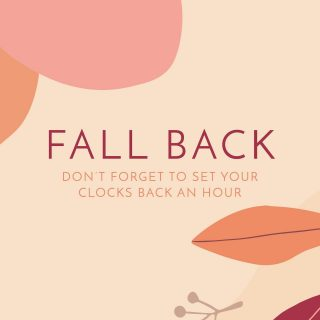 Here's your PSA for the day: remember to move your clocks BACK on Sunday, November 1st, and enjoy that extra hour of sleep! #timechange #fallback