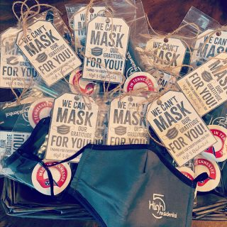 And so it begins: Day 1 of High 5's Team Member Appreciation Week! We can't mask our gratitude for our teams!! @copperfieldapartmenthomes @grand.oak.town.park @paxtoncoolsprings #teamappreciation #high5