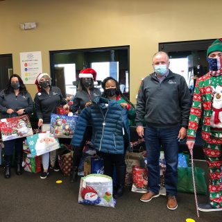 """Our Coat Drive for the Smyrna @bgcrc was a success! High 5's elves delivered 81 coats, plus an assortment of hats and gloves, to them this morning, for distribution to club members this afternoon during their annual """"Santa's Workshop"""". Thanks to all our residents and team members who helped make this happen; one resident even hand-knitted some great looking hats! #SeasonsGreetings #TisTheSeason #HappyHolidays #GiveWarmth 🎄🎅🎄"""