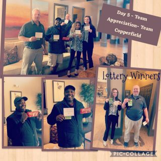 It's Day 5 and our High 5 Team Member Appreciation Week is appropriately coming to a close on World Kindness Day! Today we gifted our teams with lottery tickets and a little extra time off! A few team members won some 💰 , but they are ALL winners in our book! What are you doing today to make the 🌎 a little kinder? #teamappreciation #worldkindnessday #bekind #makekindnessthenorm