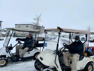 """A Big """"High5"""" to our maintenance teams out clearing snow ❄️ and providing """"service excellence """" to our residents!#teamwork #high5living"""